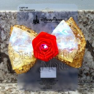 Disney Accessories - Disney Princess Light Up Hair/Ears Bow Set